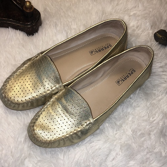 Sperry Top-Sider Gold Flats Size 8 1/2
